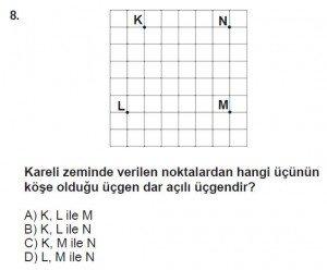 5. Sınıf Matematik kazanım Test 8 soru 8