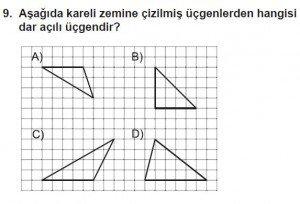 5. Sınıf Matematik kazanım Test 8 soru 9