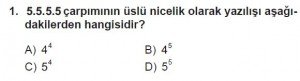 6. Sınıf Matematik kazanım Test 1 soru 1