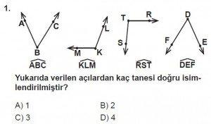 6. Sınıf Matematik kazanım Test 4 soru 1