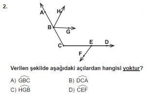 6. Sınıf Matematik kazanım Test 4 soru 2