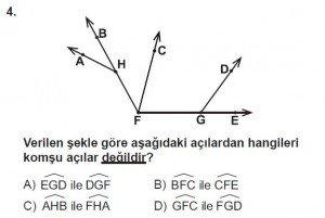 6. Sınıf Matematik kazanım Test 4 soru 4