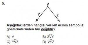 6. Sınıf Matematik kazanım Test 4 soru 5