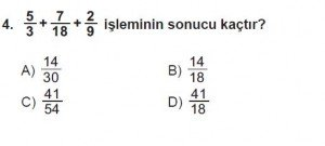 6. Sınıf Matematik kazanım Test 6 soru 4