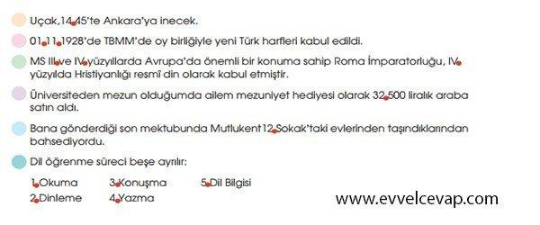 6. Sınıf Türkçe Çalışma Kitabı MEB Yayınları 4. Tema 7. Etkinlik