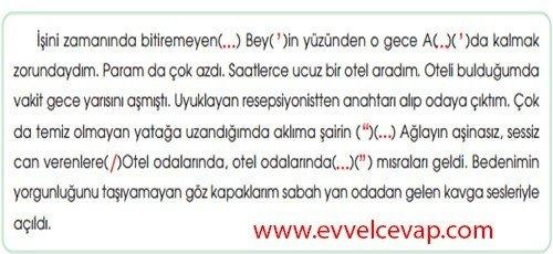 7. Sınıf MEB Yayınları Çalışma Kitabı Mehmet Akif Ersoy 8. Etkinlik