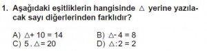 7. Sınıf Matematik kazanım Test 5 soru 1