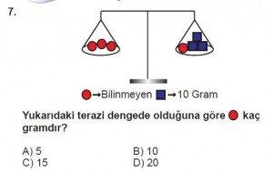 7. Sınıf Matematik kazanım Test 5 soru 7