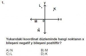 7. Sınıf Matematik kazanım Test 7 soru 1