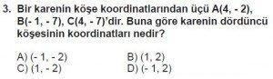 7. Sınıf Matematik kazanım Test 7 soru 3