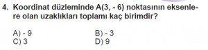 7. Sınıf Matematik kazanım Test 7 soru 4