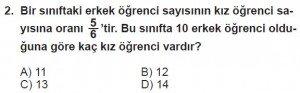 7. Sınıf Matematik kazanım Test 8 soru 2