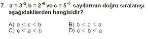 8. Sınıf Matematik kazanım Test 1 soru7