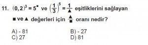 8. Sınıf Matematik kazanım Test 2 soru11
