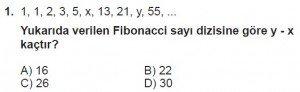 8. Sınıf Matematik kazanım Test 9 soru1