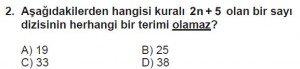 8. Sınıf Matematik kazanım Test 9 soru2