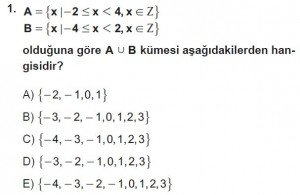9. Sınıf Matematik kazanım Test 2 soru1