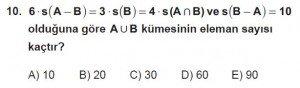 9. Sınıf Matematik kazanım Test 2 soru10
