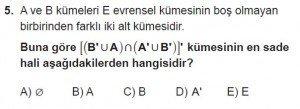 9. Sınıf Matematik kazanım Test 2 soru5