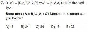 9. Sınıf Matematik kazanım Test 2 soru7