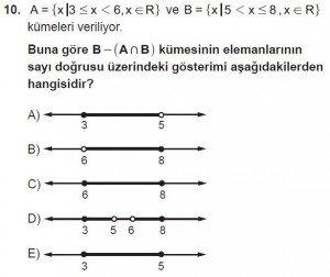 9. Sınıf Matematik kazanım Test 3 soru10