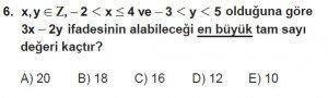 9. Sınıf Matematik kazanım Test 3 soru6