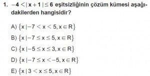 9. Sınıf Matematik kazanım Test 4 soru1