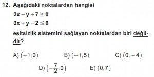 9. Sınıf Matematik kazanım Test 4 soru12