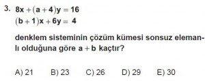 9. Sınıf Matematik kazanım Test 4 soru3