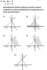 9. Sınıf Matematik kazanım Test 4 soru5