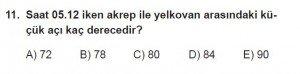 9. Sınıf Matematik kazanım Test 7 soru11