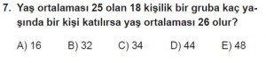 9. Sınıf Matematik kazanım Test 7 soru7