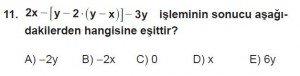 Mezun Matematik kazanım Test 1 soru 11