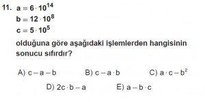 Mezun Matematik kazanım Test 10 soru 11