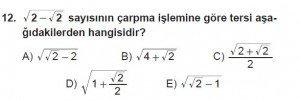 Mezun Matematik kazanım Test 11 soru 12