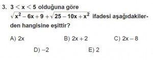 Mezun Matematik kazanım Test 12 soru 3