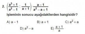Mezun Matematik kazanım Test 13 soru 2
