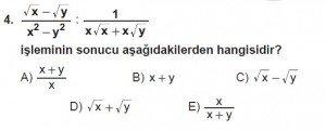 Mezun Matematik kazanım Test 13 soru 4