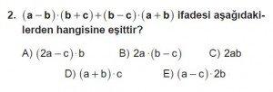 Mezun Matematik kazanım Test 14 soru 2