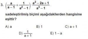 Mezun Matematik kazanım Test 14 soru 3