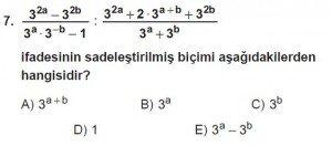 Mezun Matematik kazanım Test 14 soru 7