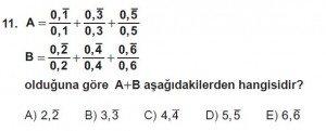 Mezun Matematik kazanım Test 6 soru 11