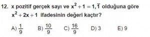 Mezun Matematik kazanım Test 6 soru 12