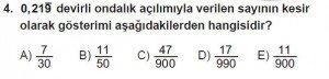 Mezun Matematik kazanım Test 6 soru 4