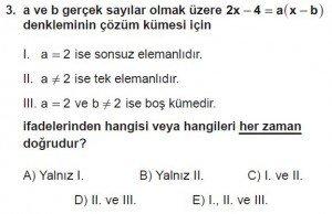 Mezun Matematik kazanım Test 7 soru 3
