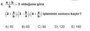 Mezun Matematik kazanım Test 7 soru 4