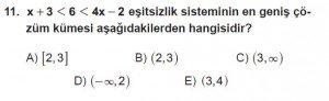Mezun Matematik kazanım Test 8 soru 11