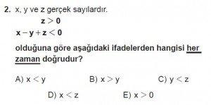 Mezun Matematik kazanım Test 8 soru 2