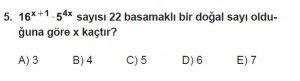 Mezun Matematik kazanım Test 9 soru 5