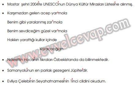 Anadolu'da Konukseverlik Gelenekseldir 8. Etkinlik Cevabı